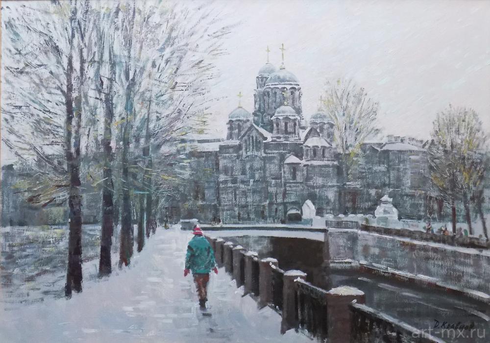 Городские пейзажи Петербурга в картинах маслом