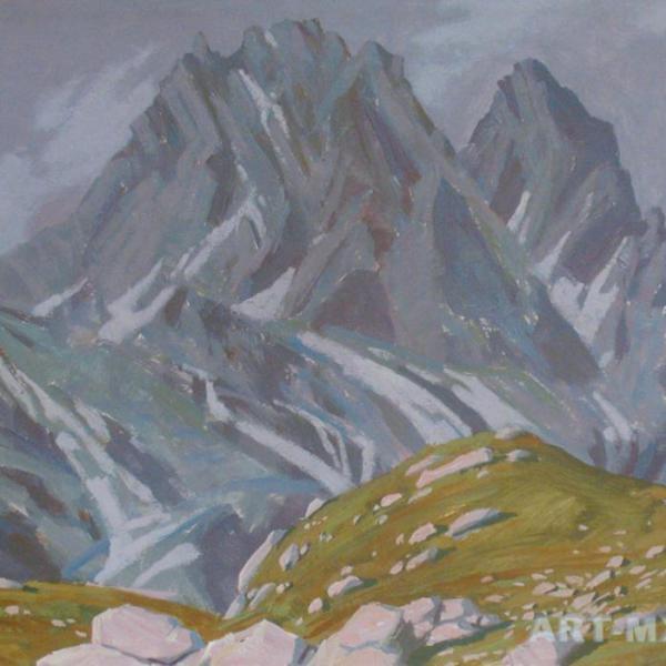 Жанр горный пейзаж. Горы в живописи