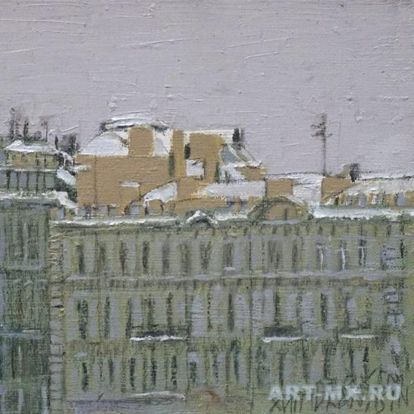 Жанр городского пейзажа. Петербург в картинах маслом