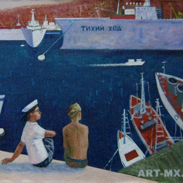 Морские пейзажи с кораблями