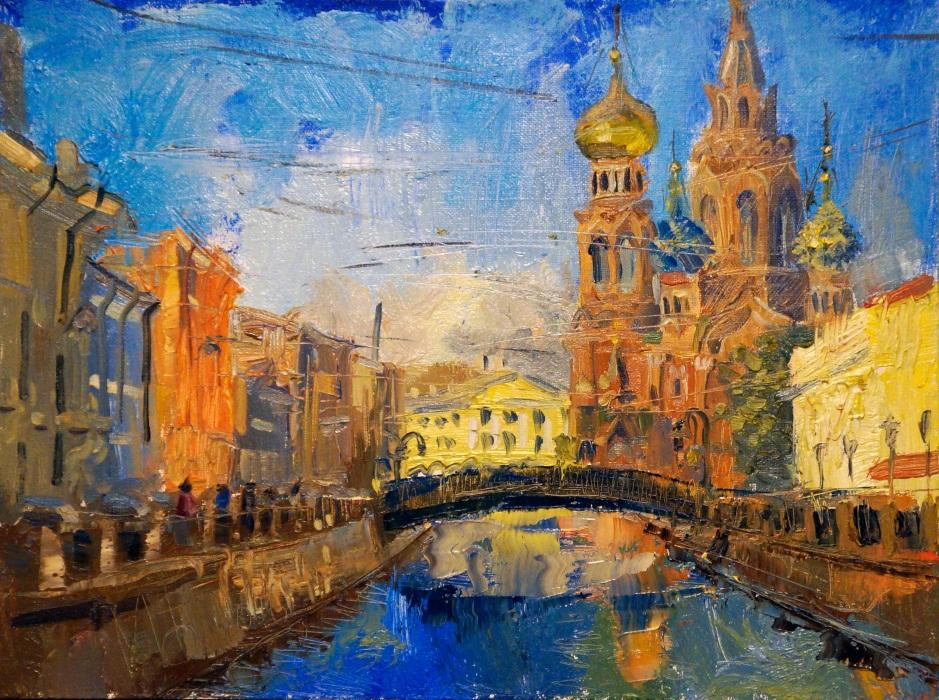 1c1b22f1110 Городской пейзаж маслом - картины известных художников купить в СПб